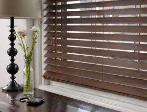 Brown wooden venetian blinds 5