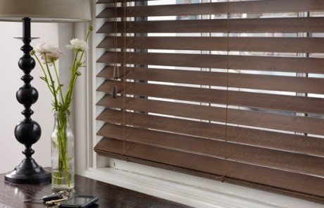 Brown wooden venetian blinds 5