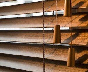 Brown wooden venetian blinds 6