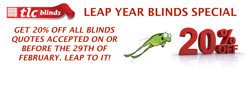leap year blinds special 20 percent off tlc blinds cape town facebook cover