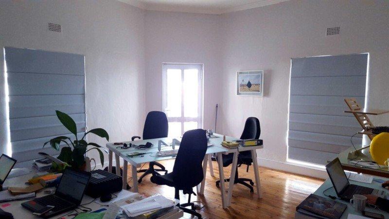 Light Grey Roman Blinds office