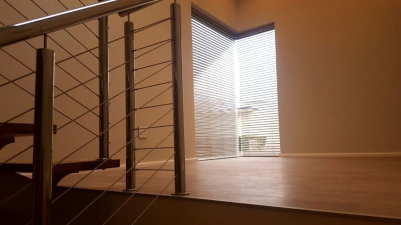 50mm Aluminium Venetian Blinds Grey stairs