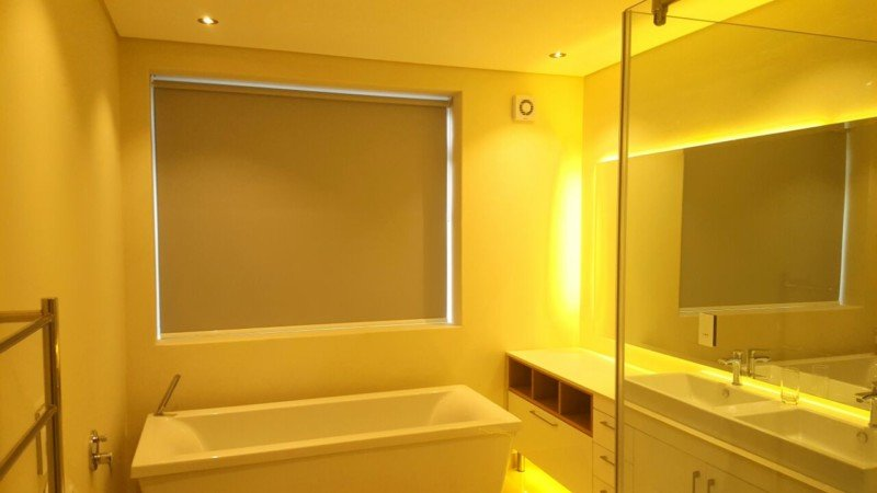 Light Grey Roller Blinds Bathroom