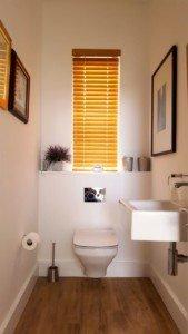 50mm Bamboo Venetian Bathroom Closed