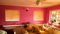 Bamboo venetian pink room tlc blinds