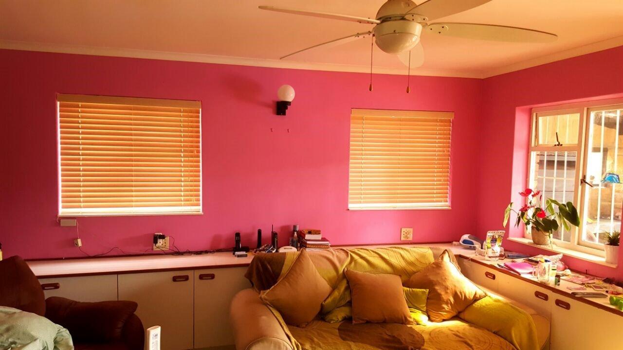 Bamboo venetian pink room tlc blinds