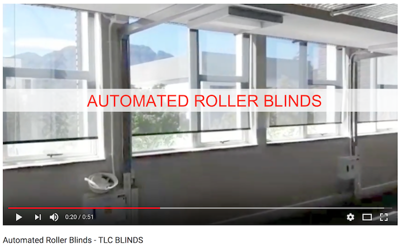 Automated Roller Blinds - TLC Blinds Cape Town 1