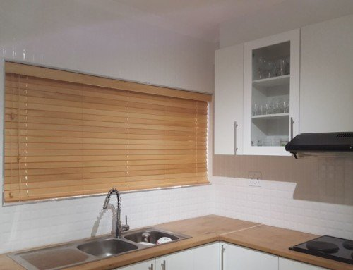 Match your blinds with your kitchen counter tops
