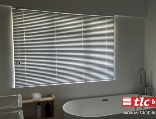Get the privacy your bathroom deserves with an elegant window blind