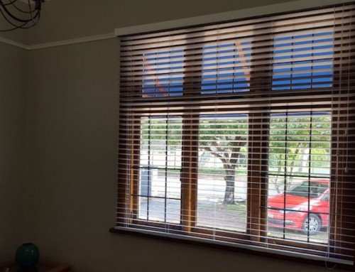 Elegant 50 mm basswood venetian blinds recently installed.