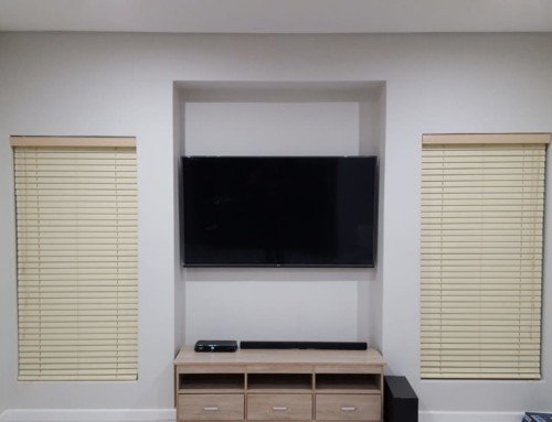 Blinds for your TV Room to prevent that annoying glare