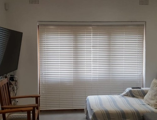 Hide Your TV with 50mm Basswood Venetian Blinds