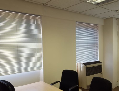 25mm Venetian Aluminium Blinds – Office Installation