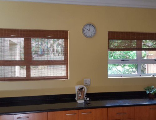 Recent Springtime Bamboo Roller Blinds Installation