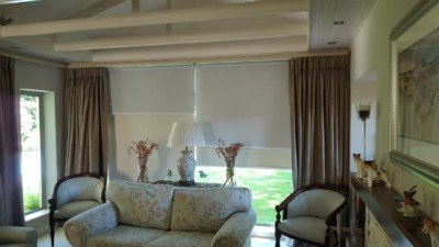 double sunscreen roller blinds with block out blinds - tlc blinds cape town