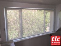 sunscreen roller blinds - soft steel - tlc blinds