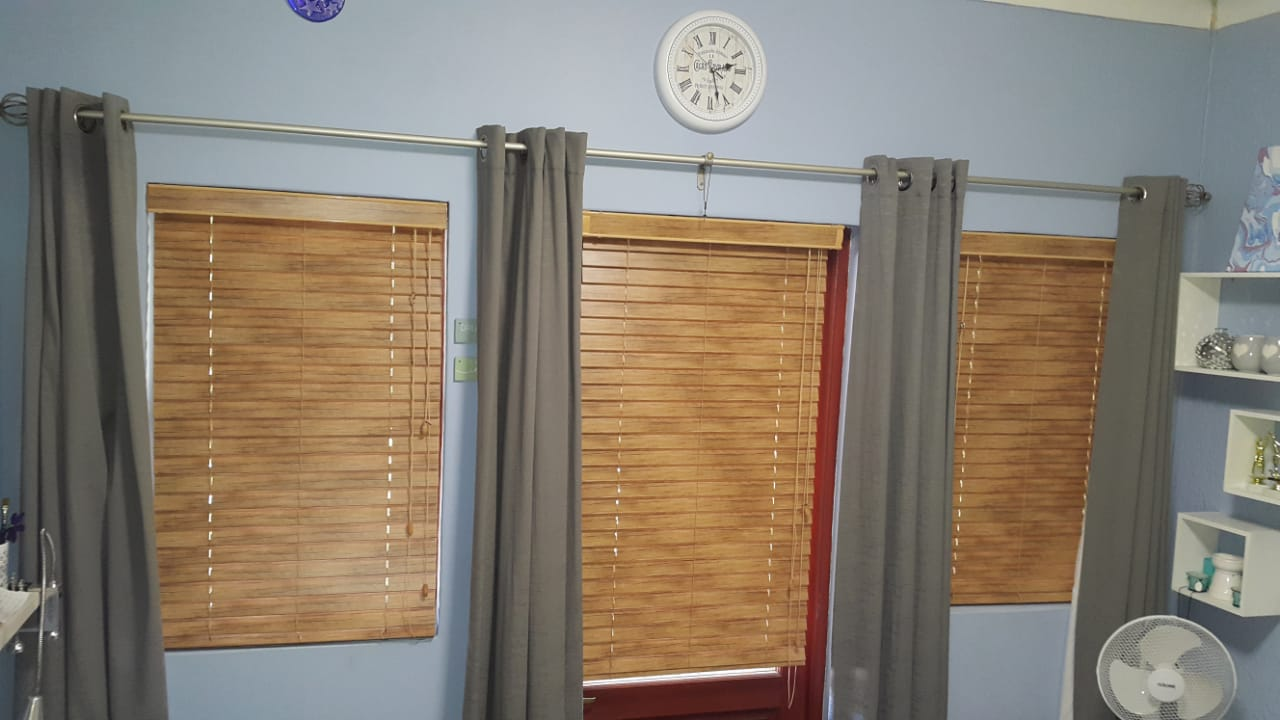 50mm Antique Aluminium Wooden Venetian Blinds