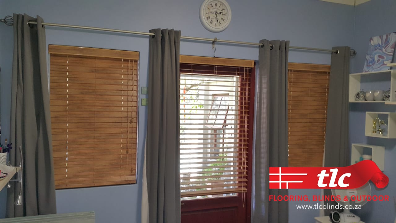 50mm Antique Aluminium Wooden Venetian Blinds 4