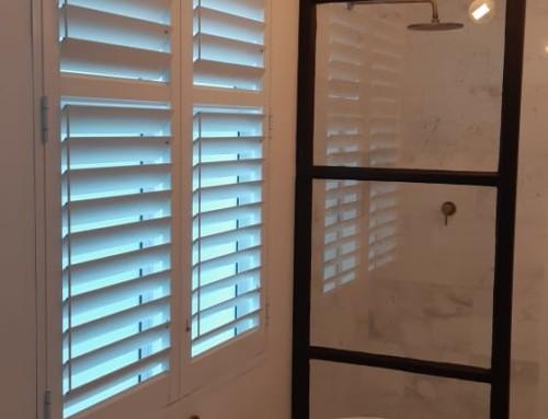Bathroom Window Shutters Recently Installed