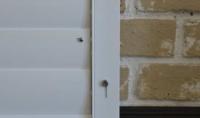 Flush Bolt Lock - Ambient Aluminium Security Shutter Blinds 1