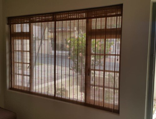 Newly fitted bamboo roller blinds.