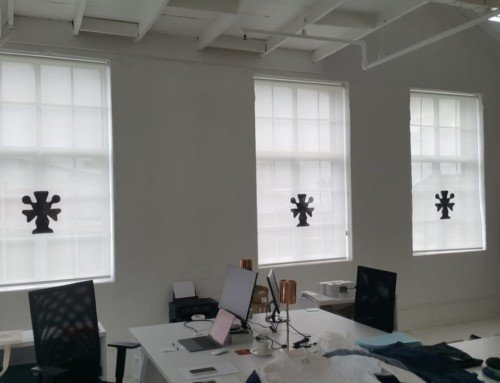 A recent sunscreen roller blinds installation