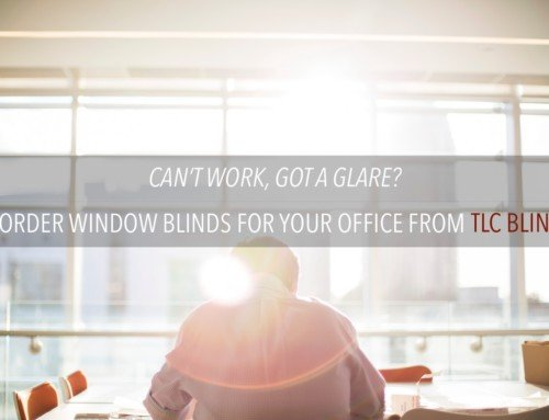 Blinds to stop the glare of the sun in your office