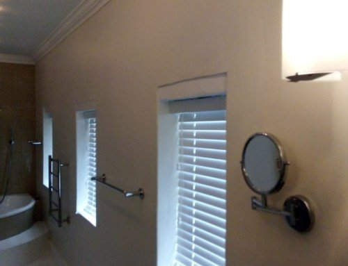 50mm Faux Wood Venetian Blinds For Bathroom