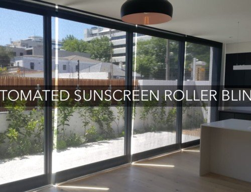 Automated Sunscreen Roller Blinds